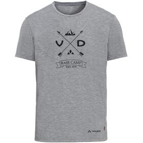 VAUDE Gleann V - Camiseta manga corta Hombre - gris